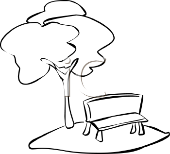 350x317 Under The Tree Clipart Black And White
