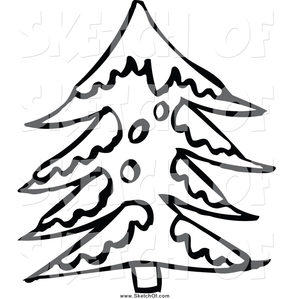 1024x1044 Winter Snow Tree Clipart Black And White