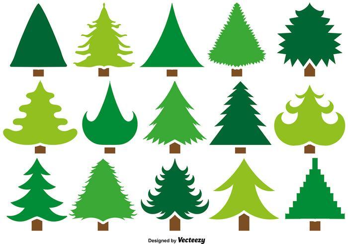 700x490 Pine Tree Silhouette Free Vector Art