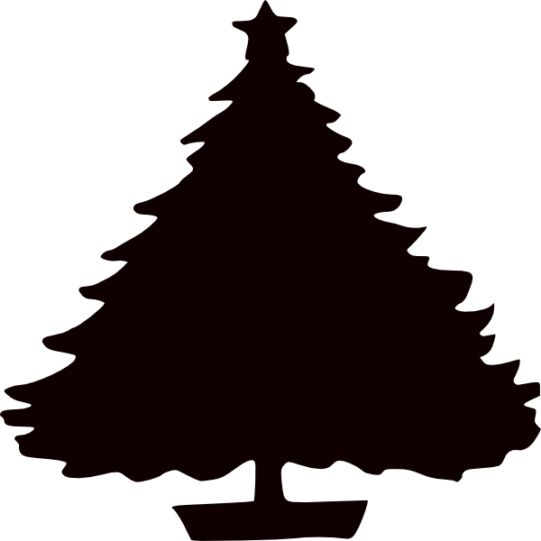 600x600 Christmas Tree Silhouette Clip Art 1302988.png Crafty Me