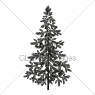 325x325 Christmas Tree Silhouette Gl Stock Images