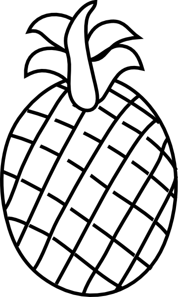 360x599 Pineapple Clip Art