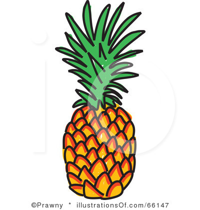400x420 Pineapple Clipart