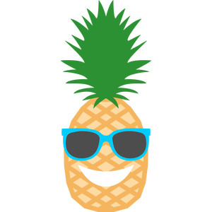 300x300 Pineapple Clip Art Clipartwiz