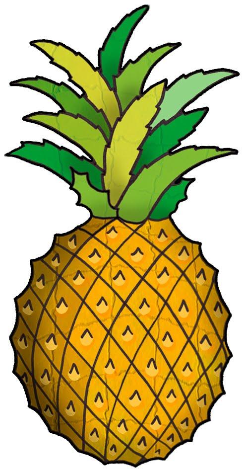 492x950 Pineapple clip art free free clipart images 2 clipartwiz clipartix