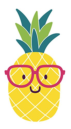 275x500 Adorable Nerdy Summer Pineapple Emoji With Glasses