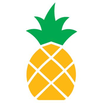 350x350 Pineapple Clipart Silhouette