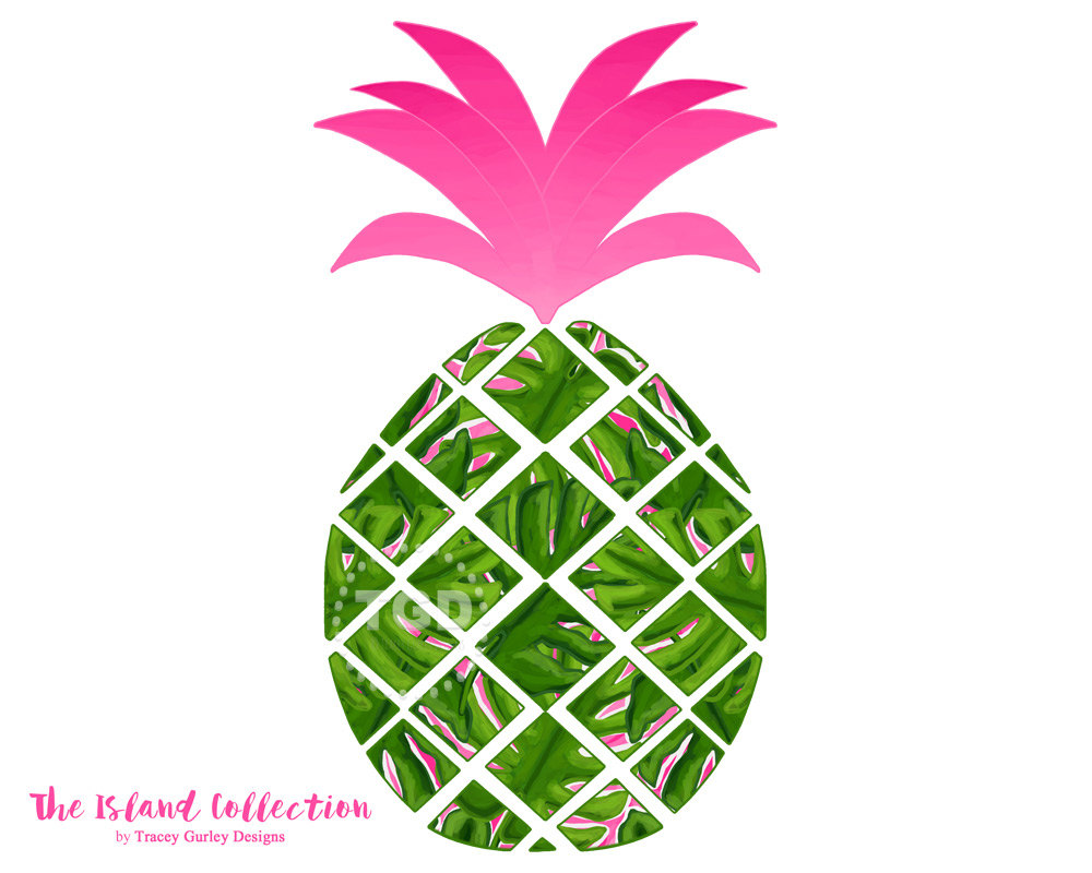 1000x800 Preppy Pineapple Clip Art