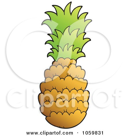 450x470 Royalty Free Vector Clip Art Illustration Of A Pineapple By