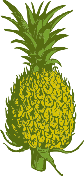 288x599 Green Pineapple Cliparts 217982
