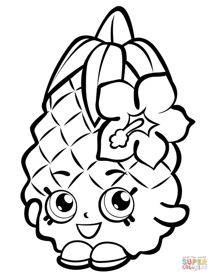 687x889 Coloring Pages Captivating Pineapple Coloring Page Remarkable
