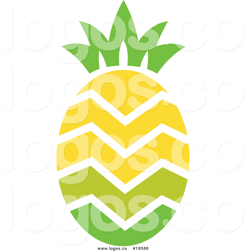 1024x1044 Royalty Free Vector Logo Of A Pineapple With Zig Zag Lines Through
