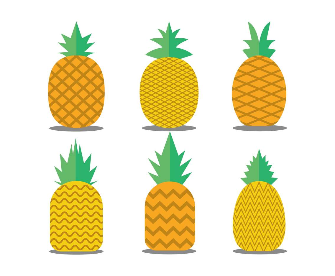 1136x936 Pineapple Flat Icon Set Vectors Vector Art Amp Graphics