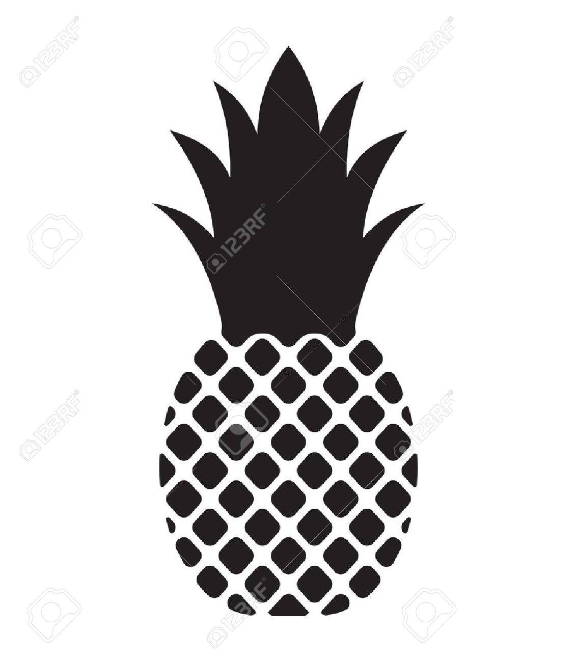 1133x1300 Pineapple Vector Icon Royalty Free Cliparts, Vectors, And Stock