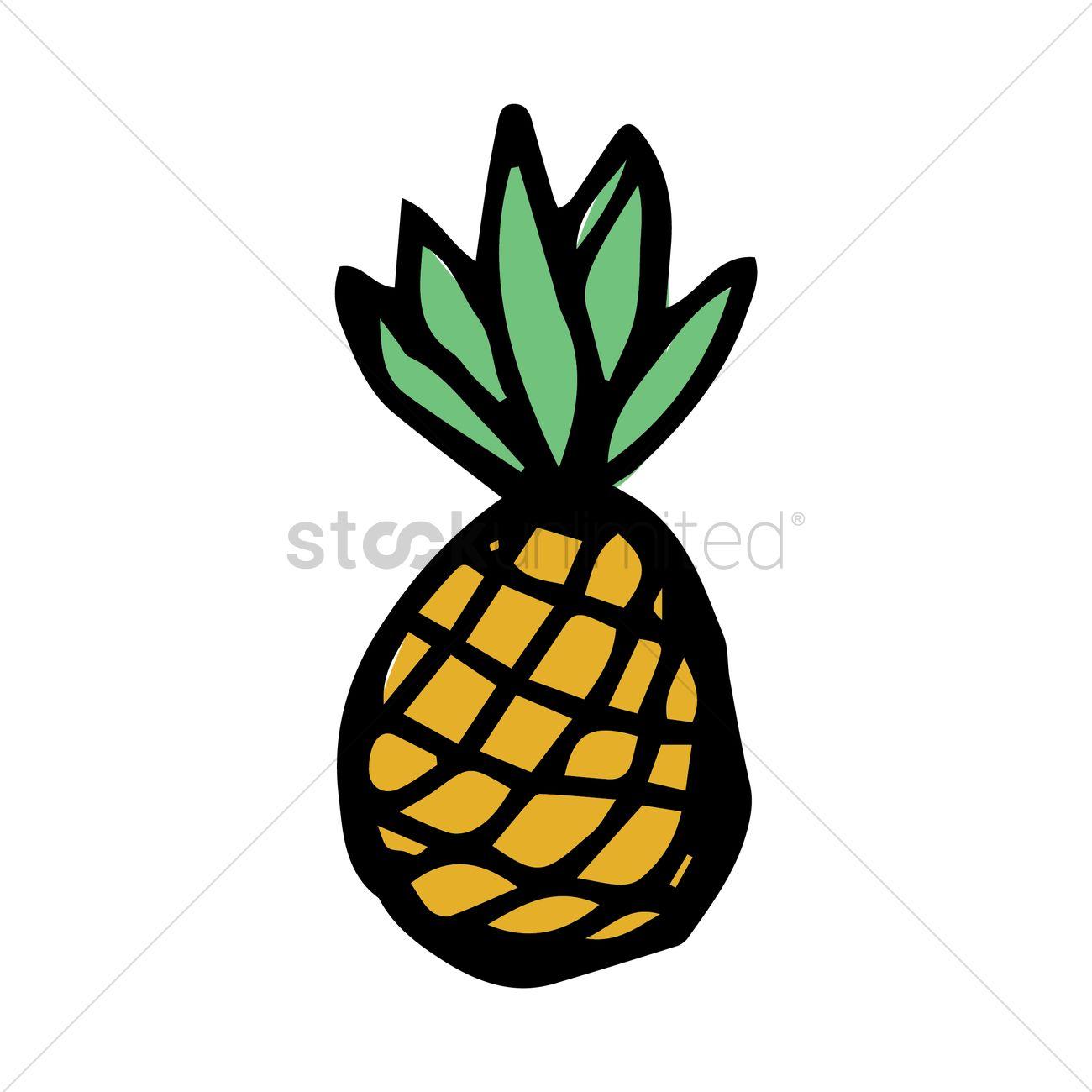1300x1300 Pineapple Vector Image