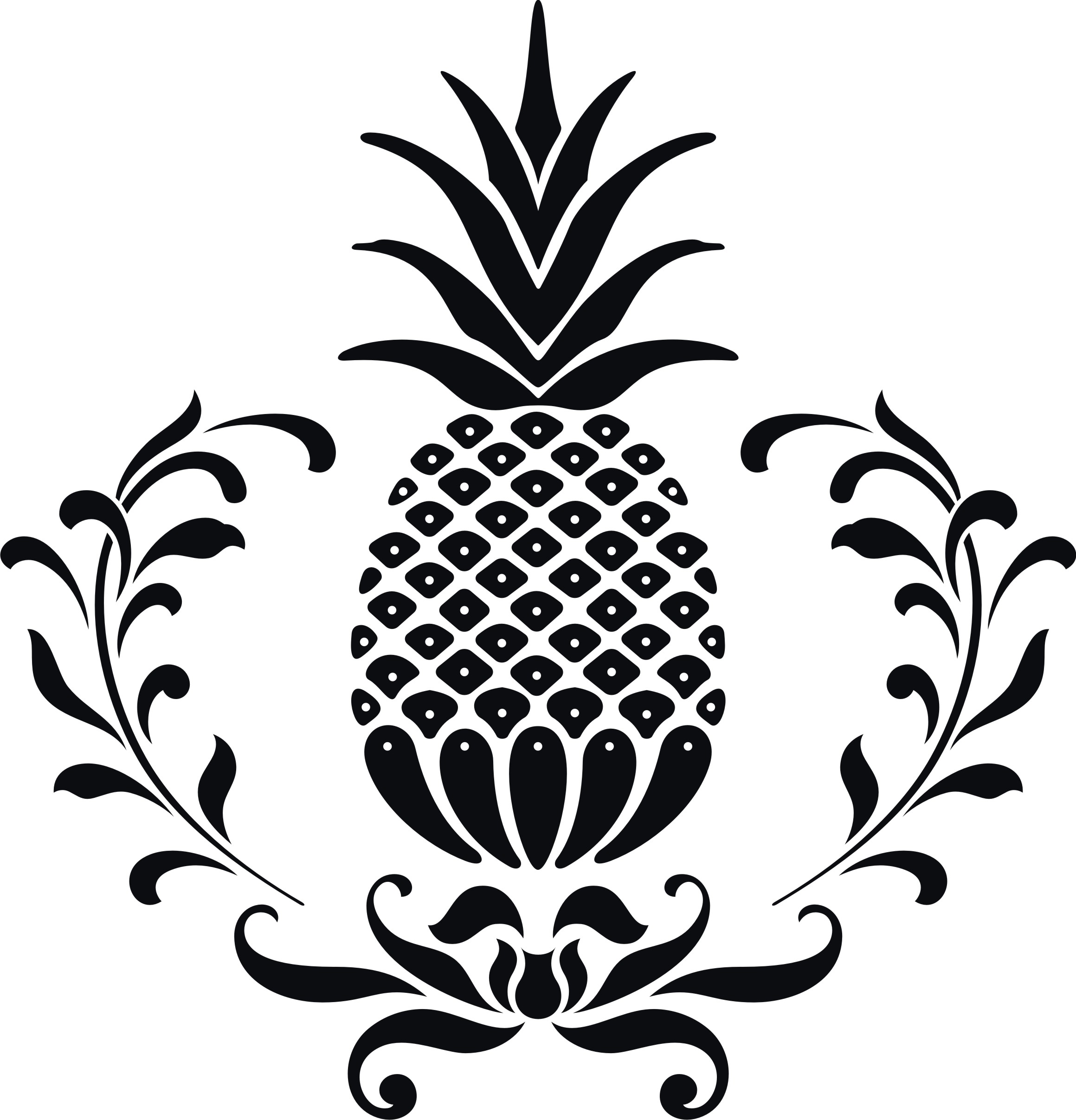 2319x2413 Pineapple Clipart Welcome
