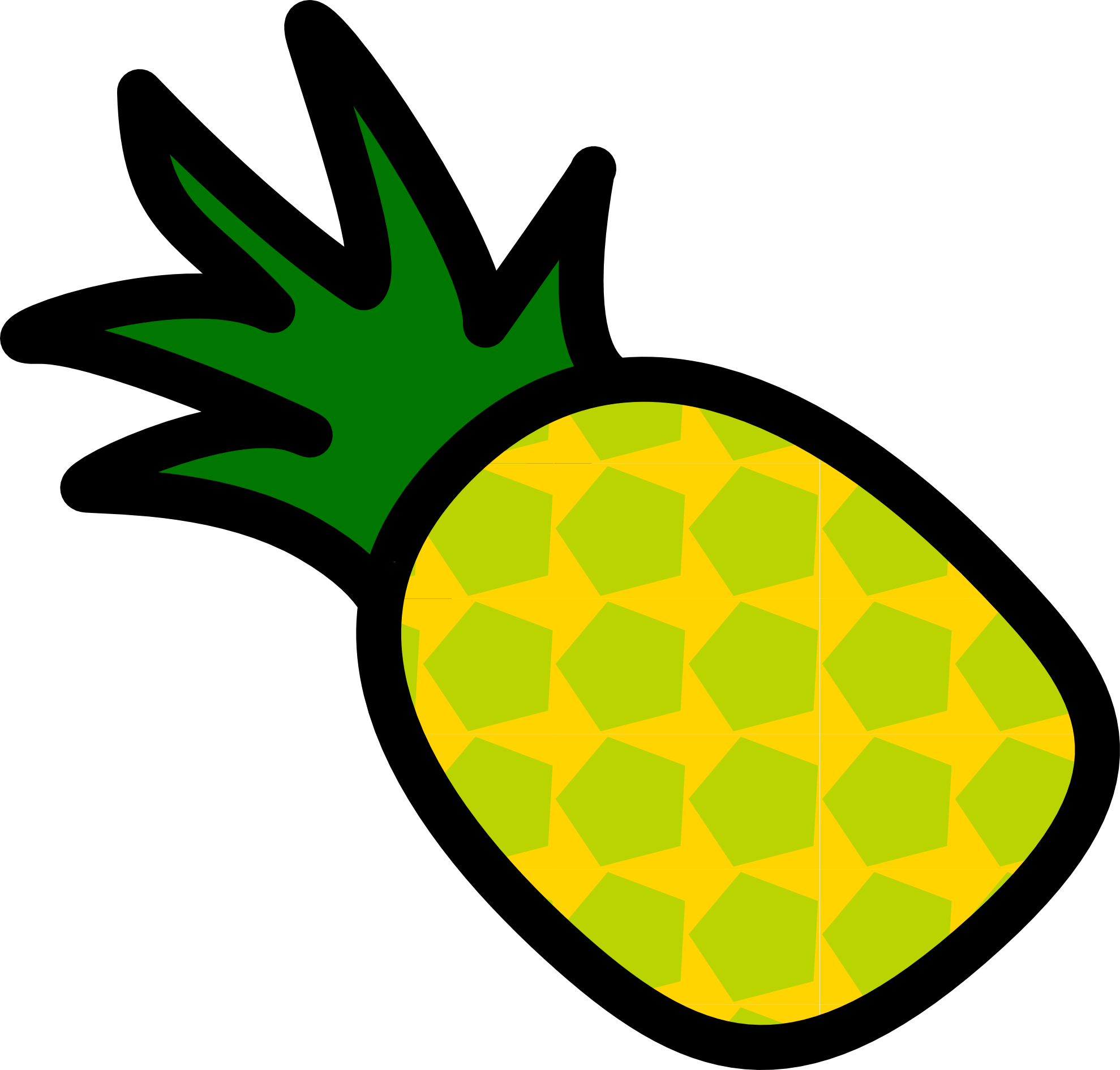 1979x1890 Pineapple Vector Free Clipart Images