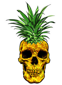 220x300 Pineapple. Vector Illustration Royalty Free Stock Image