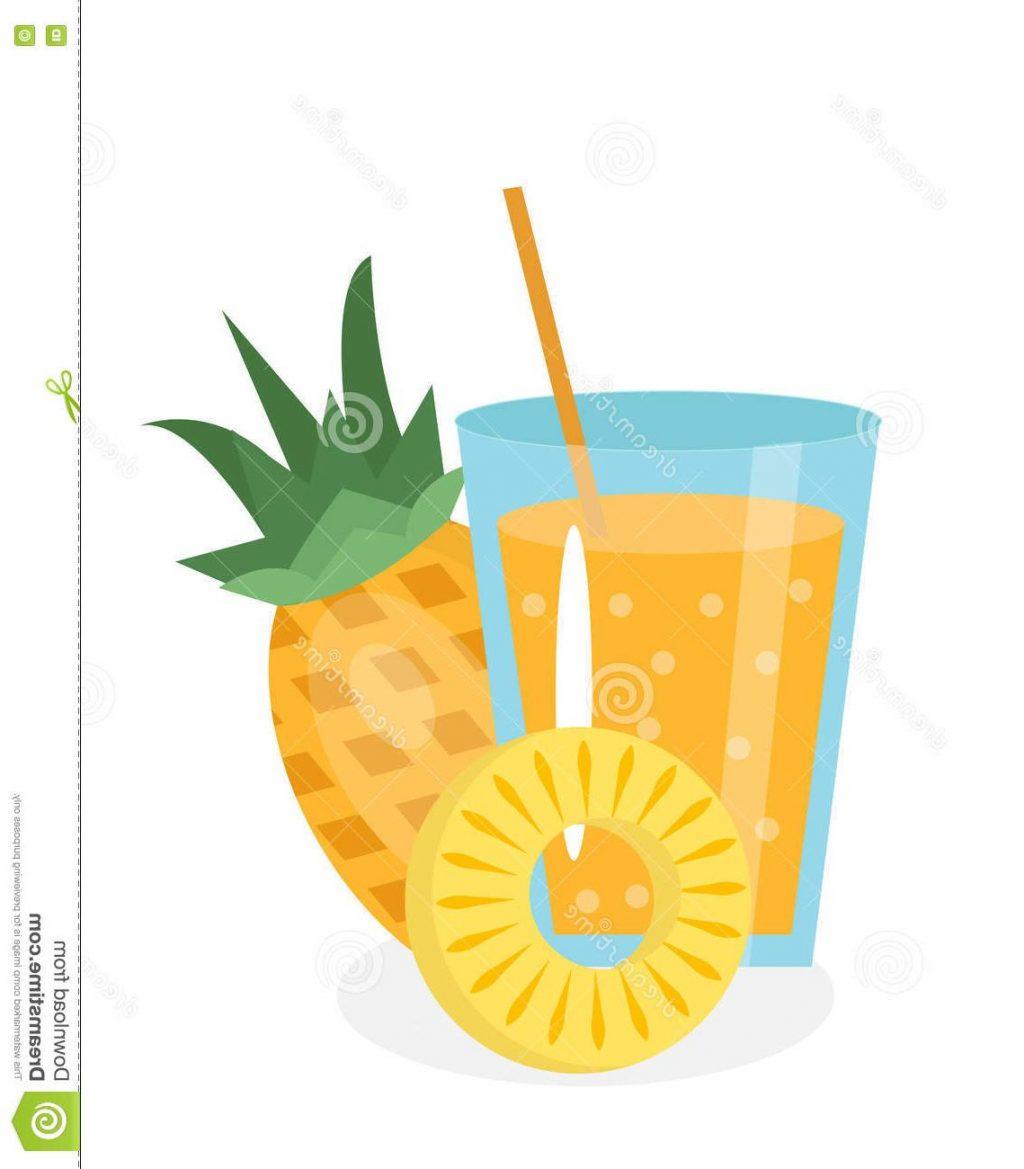 1024x1169 Unique Pineapple Juice Glass Fresh Isolated White Background Fruit
