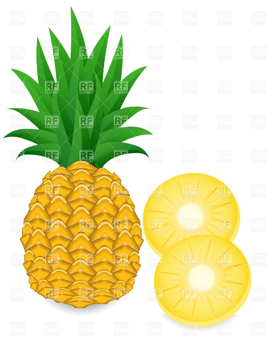956x1200 Pineapple Slice Clipart Pineapple And Slice Download Royalty Free