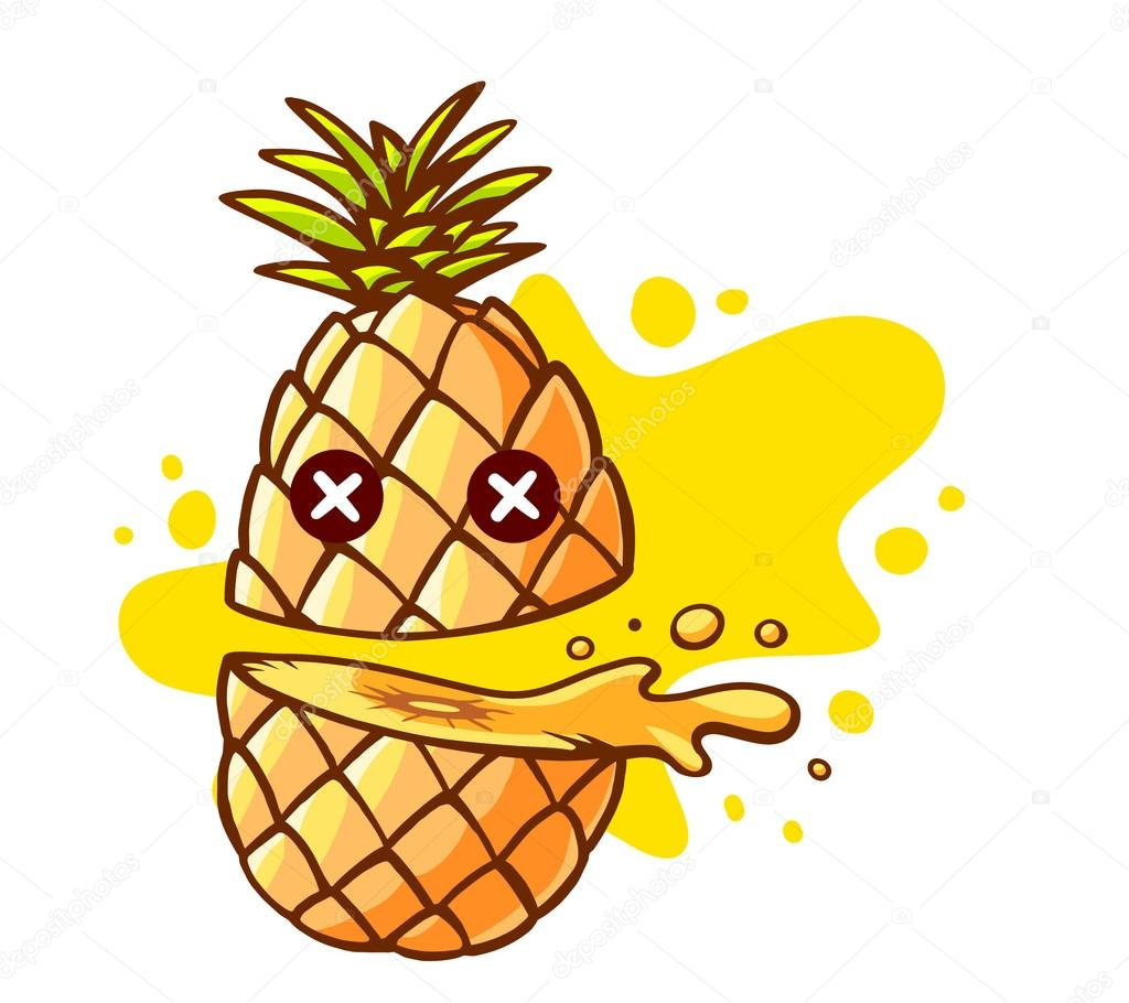 1024x910 Colorful Pineapple Cut In Half Stock Vector Wowomnom