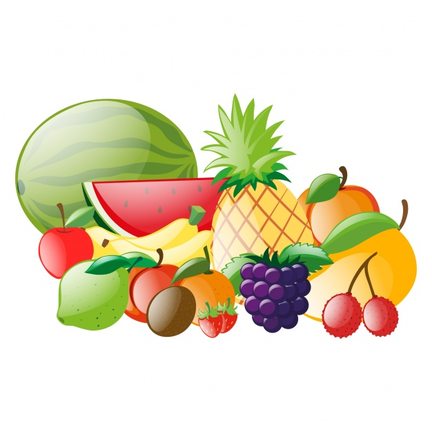626x626 Coloured Fruits Collection Vector Free Download
