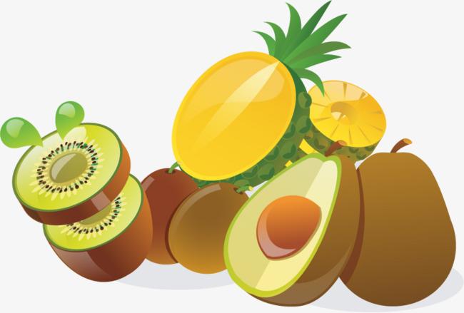 650x439 Pineapple, Kiwi Fruit Png Vector Material, Pineapple Vector, Kiwi