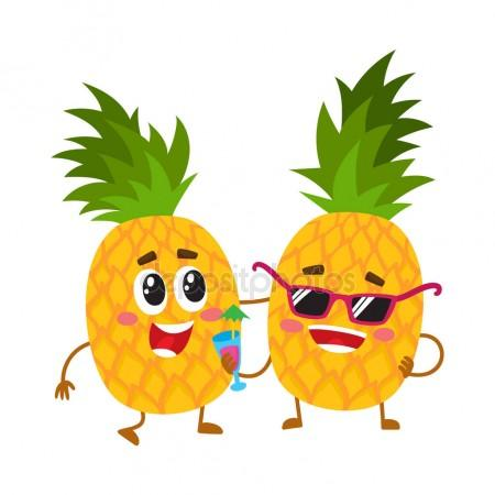 450x450 Two Cute And Funny Pineapple Characters, One Tickling The Other