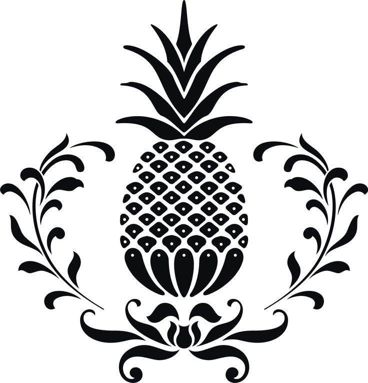 736x765 Vector Clipart Pineapple