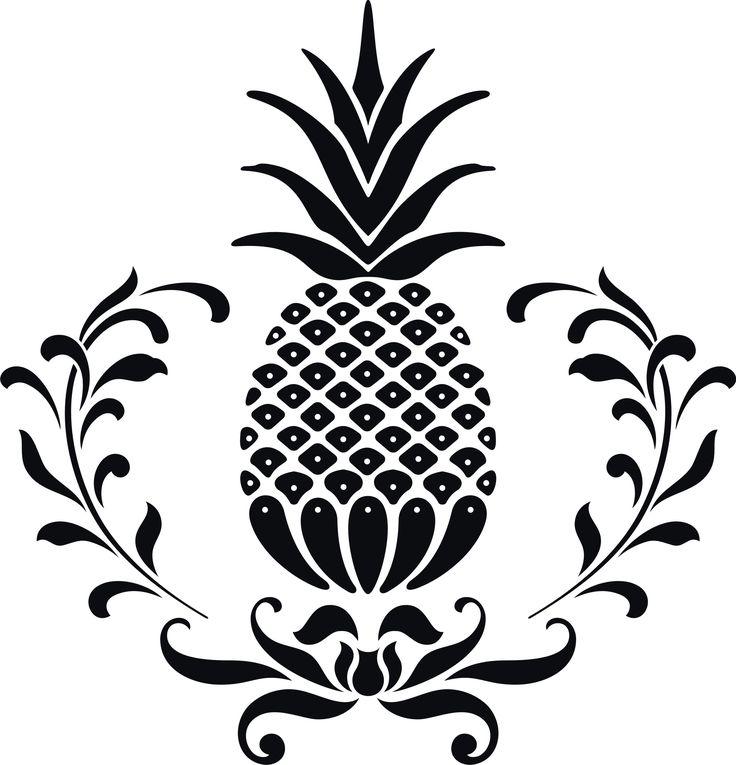 736x765 Vector Clipart Pineapple