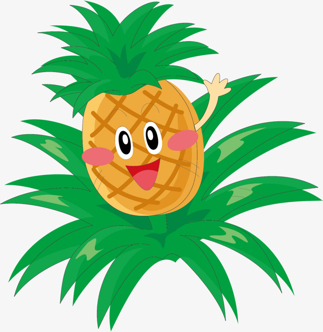 650x668 Vector Cute Fruit Illustration, Vector Diagram, Fruits, Pineapple