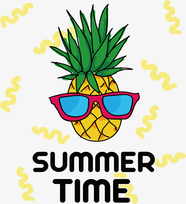 650x712 Wearing Glasses Of Pineapple, Vector Png, Hand Painted Pineapple