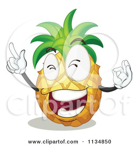 450x470 Cartoon Of A Pineapple