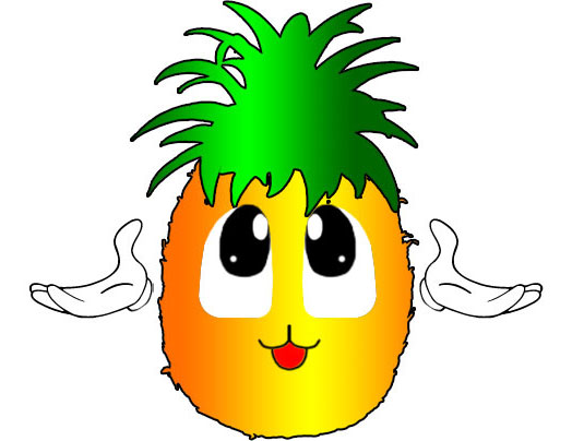 524x404 Cartoon Clipart Pineapple