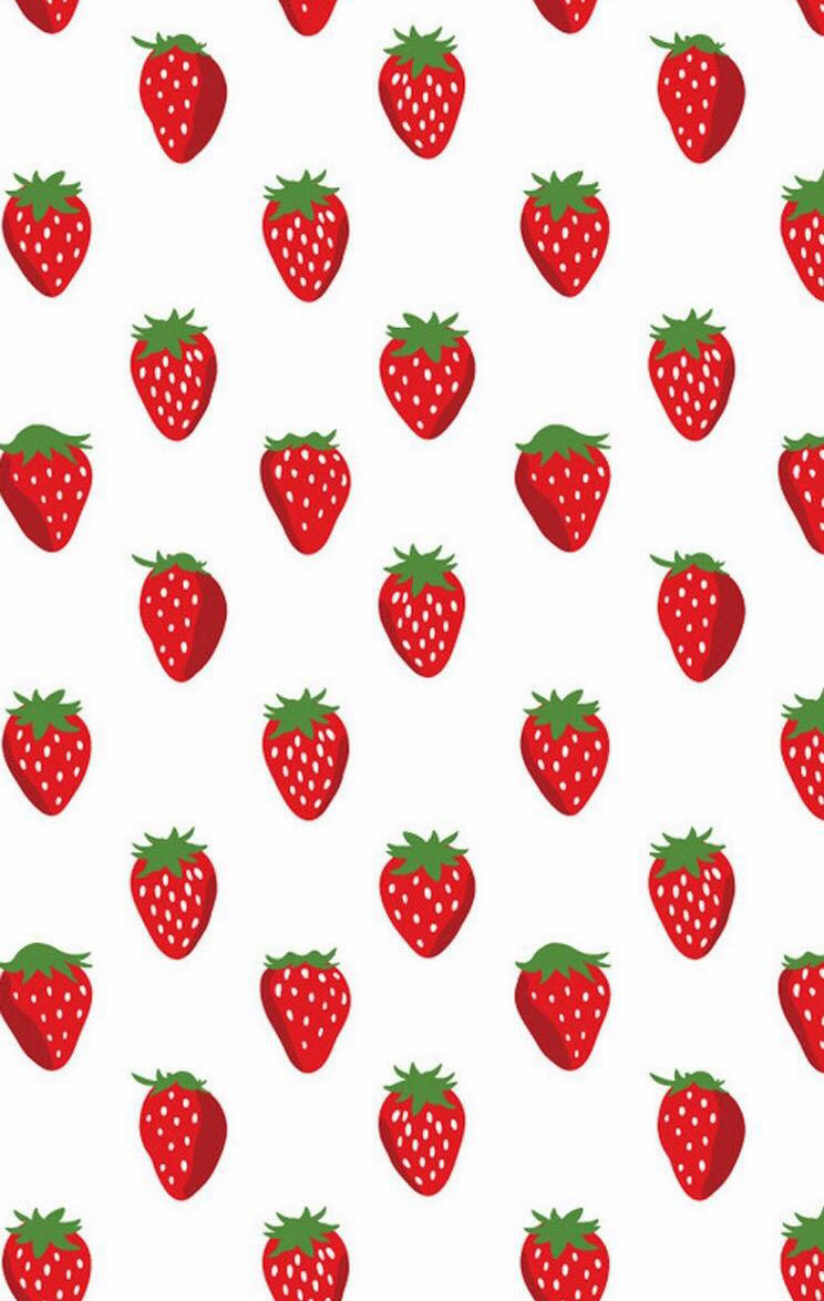 744x1174 Strawberry Wallpaper Pattern Inspiration Wallpaper