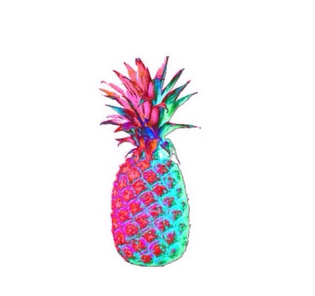 640x600 Colorful Pineapples Tumblr Shizzz