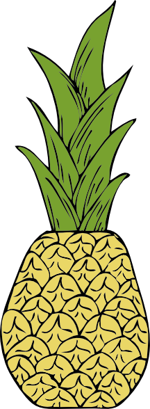 216x588 Free Pineapple Clipart