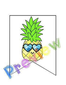 270x350 Pineapple Pals Back To School Banner And Clip Art By Spinners And Such