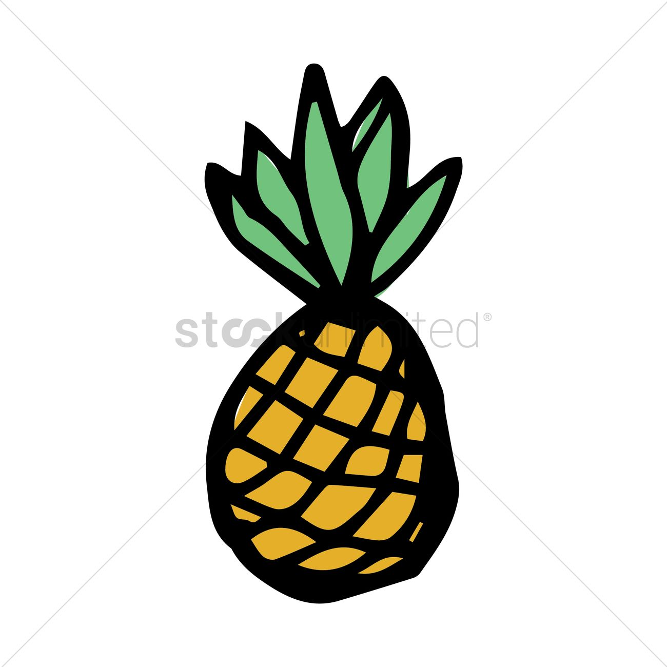 1300x1300 Pineapple Clipart Graphic