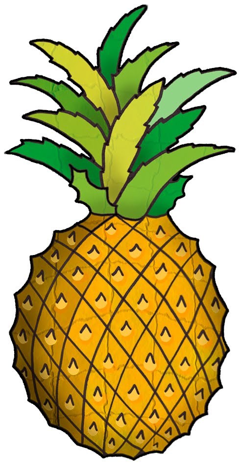 492x950 Pineapple Clipart Yellow Fruit