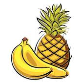 170x170 Clip Art Of Pineapple And Bananas K5718107