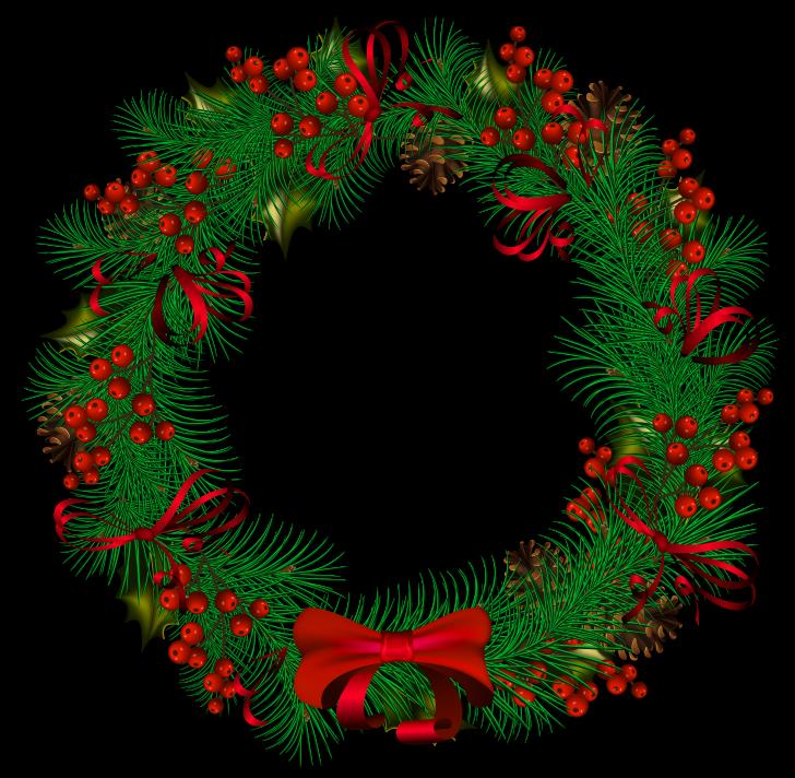 728x712 Christmas ~ Christmas Wreath Clip Art Il Fullxfull 895644642 43c8