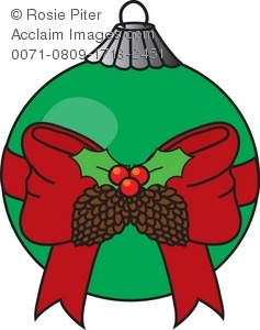 237x300 Royalty Free Clipart Illustration Of A Christmas Ornament With Bow