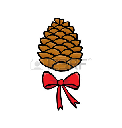 428x450 Set With Pinecones Isolated On White Royalty Free Cliparts