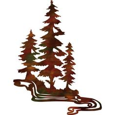 236x236 84 Large Pine Tree Forest Metal Wall Art Nature Wall Art