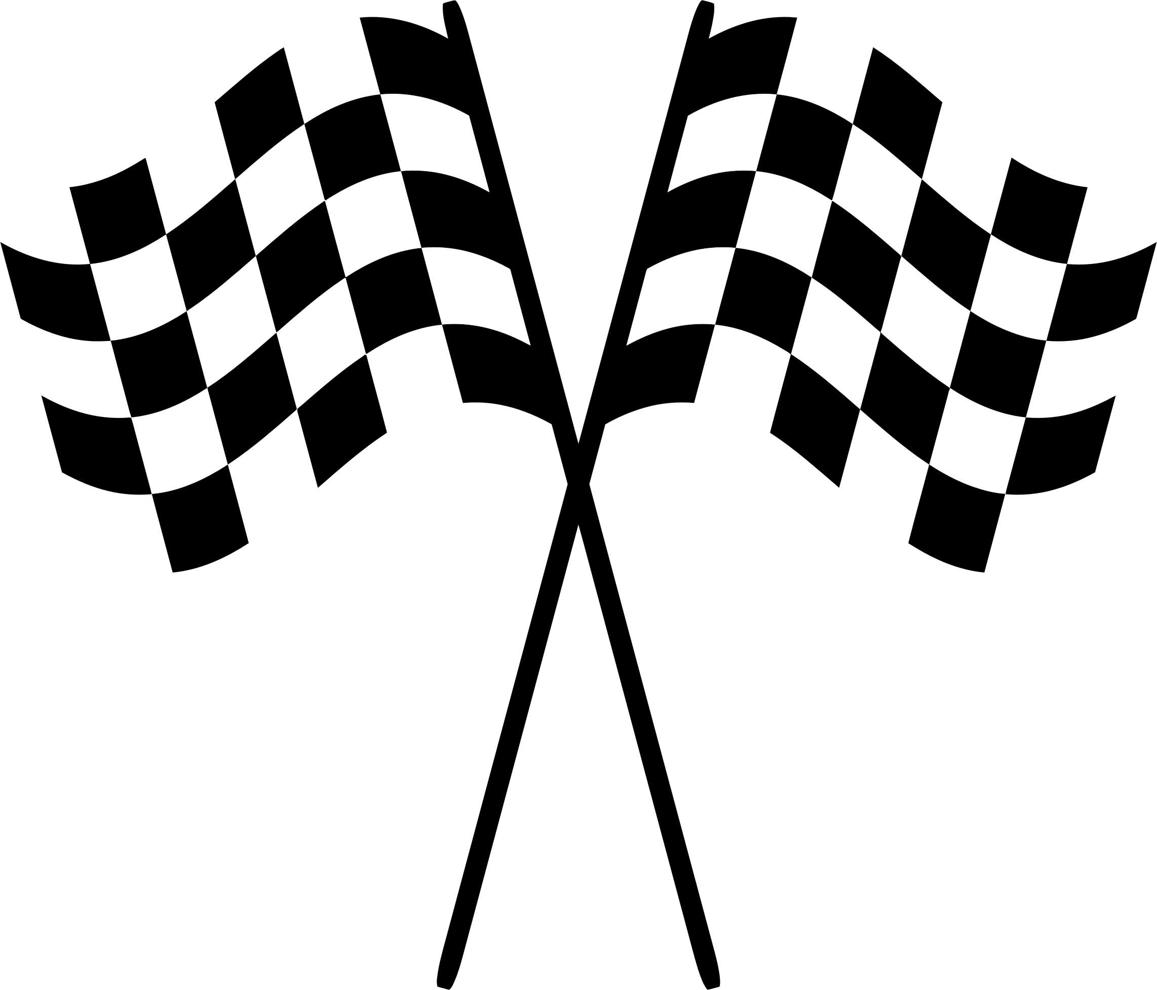 2284x1954 Racer Clipart Checkered Flag