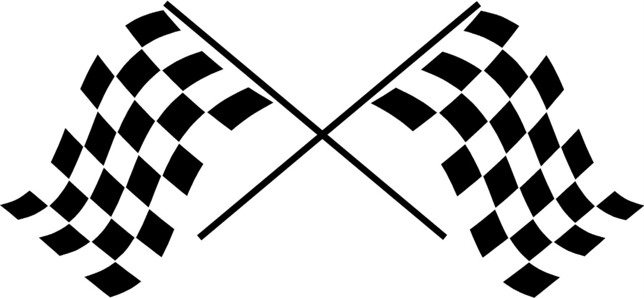 1280x593 Racing Clipart Checkered Flag
