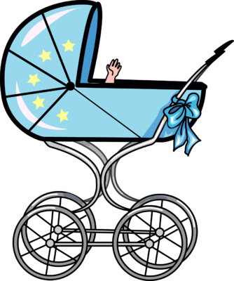 334x400 Baby Carriage Clip Art