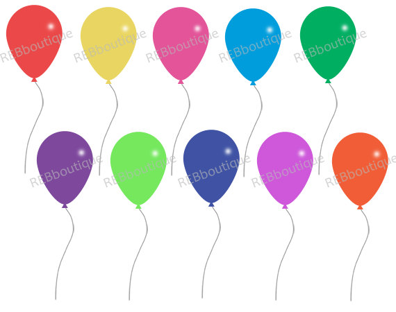 570x450 Clipart Balloons Clip Art Balloons Birthday Party