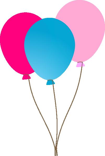402x595 Girl Ballons Clip Art